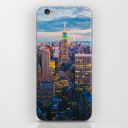 New York City, Manhattan at night iPhone Skin