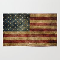 america Area & Throw Rugs featuring America by AliciaMarie