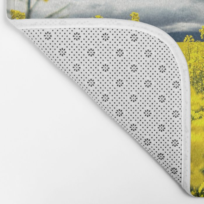 Fields of yellow - Floral Photography #Society6 Bath Mat