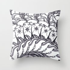 Cinnamon Bun Sun Throw Pillow