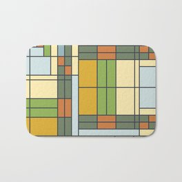 Frank lloyd wright pattern S01 Bath Mat