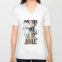 flawless V-neck T-shirts featuring Flawless by Meeko Smith