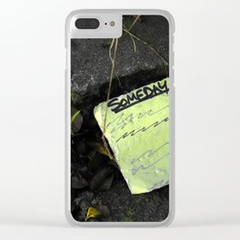 someday... Clear iPhone Case