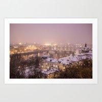 prague Art Prints featuring Prague 3 by Veronika