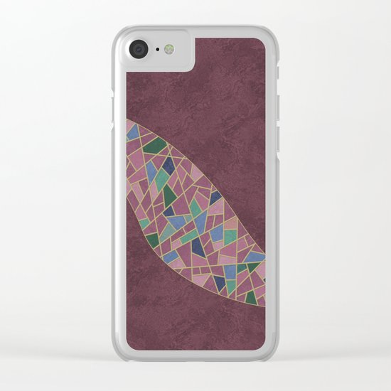 Geometric Marble 03 Clear iPhone Case