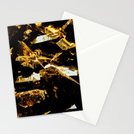 Black and Gold Tourmaline Stationery Cards