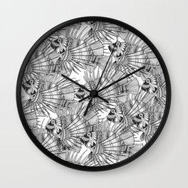 fish mirage black white Wall Clock