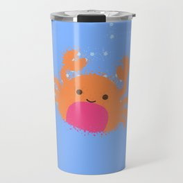 Orange Cartoon Crab Travel Mug