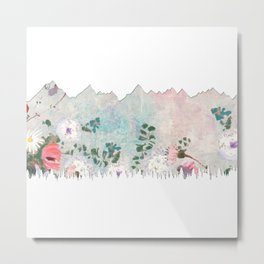 Mountains Forest Metal Print