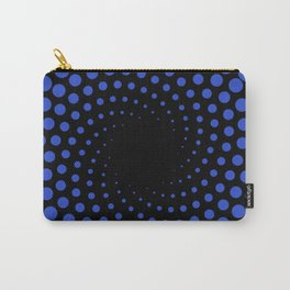 spiral in blue Carry-All Pouch