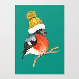 Christmas Bird Bullfinch Canvas Print