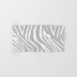 ZEBRA GRAY AND WHITE ANIMAL PRINT Hand & Bath Towel