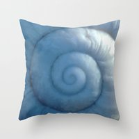shell Throw Pillows featuring shell by Motif Mondial