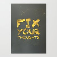 "pocketfuel Canvas Prints featuring Phil 4:8 ""Fix your thoughts..."" by Pocket Fuel"