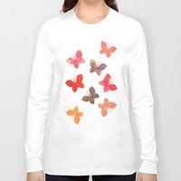 karu kara Long Sleeve T-shirts featuring BUTTERFLY SEASON by Daisy Beatrice