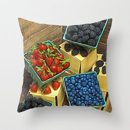 Boxed Berries Throw Pillow