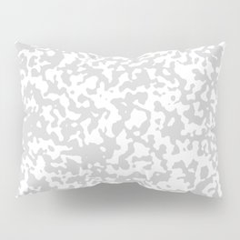 Small Spots - White and Light Gray Pillow Sham