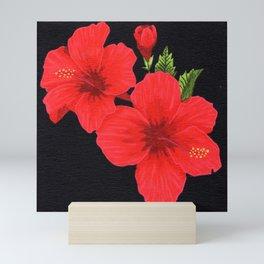 Red Hibiscus Mini Art Print