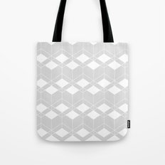Geometric pattern - gray and white. Tote Bag