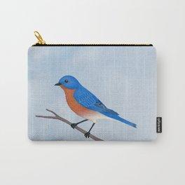 male eastern bluebird portrait Carry-All Pouch