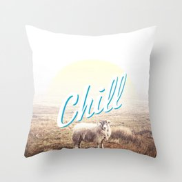 Sheep - chill Throw Pillow
