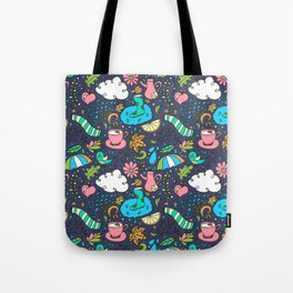 Hand draw autumn doodle pattern. Tote Bag