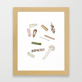 Hairclips Framed Art Print