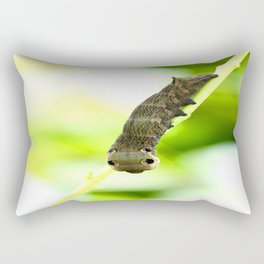 Caterpillar On A Green Plant #decor #society6 Rectangular Pillow