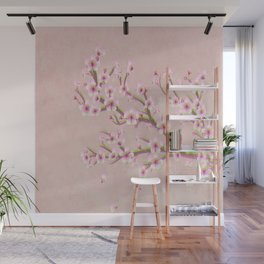 Cherry Blossom Branch Wall Mural