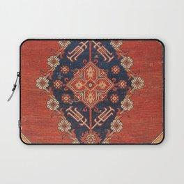 Southwest Tuscan Shapes II // 18th Century Aged Dark Blue Redish Yellow Colorful Ornate Rug Pattern Laptop Sleeve
