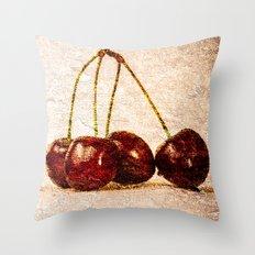 Cherries Panorama Throw Pillow