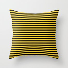 Small Black and Yellow Honey Bee Stripes Throw Pillow