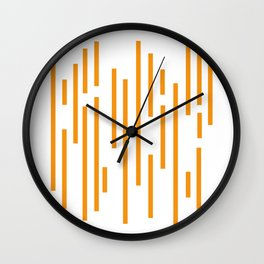 Minimalist Lines – Orange Wall Clock