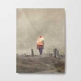 These cities burned my soul Metal Print