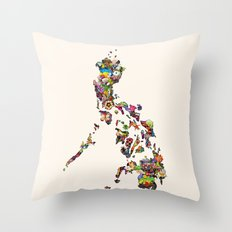 7,107 Islands | A Map of the Philippines Throw Pillow