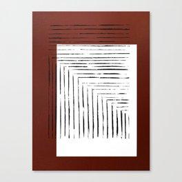 color block. rust Canvas Print