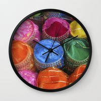 fez Wall Clocks featuring Fez Hats Istanbul by Steve P Outram