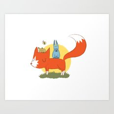 foxy friends. Art Print