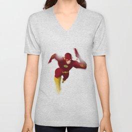 The Flash minimalist Splash Poster Unisex V-Neck