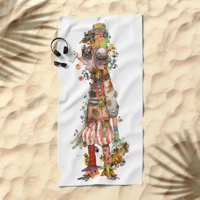 clown Beach Towel
