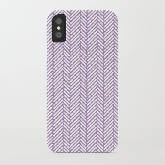 Herringbone Orchid iPhone Case