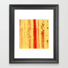 Gerhard Richter Inspired Abstract Urban Rain 3 Framed Art Print