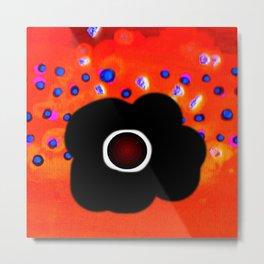 Hole and black flower Metal Print