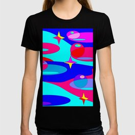 Planets and Stars in Jewel Tones T-shirt