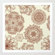Hand Drawn Mandala Pattern 03 Art Print