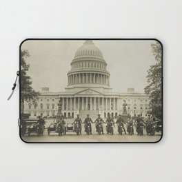 Vintage Motorcycle Police - Washington DC Laptop Sleeve