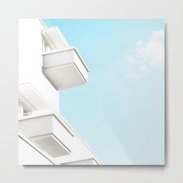 Minimal White Balcony Dream #1 #wall #decor #art #society6 Metal Print