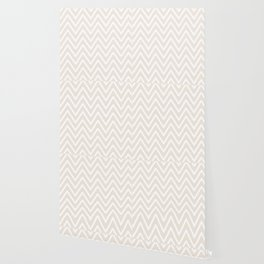 Chevron Wave Gardenia Wallpaper