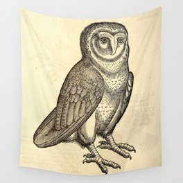 Antique Barn Owl Wall Tapestry