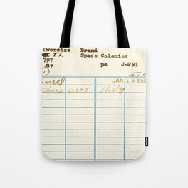 Library Card 797.B7 Tote Bag